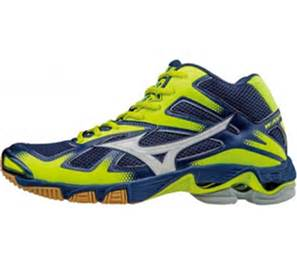 WAVE BOLT MID 5 BLUE YELLOW MIZUNO