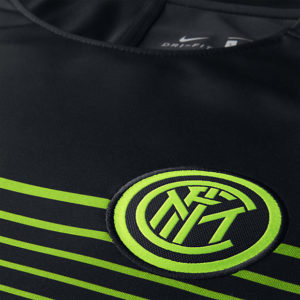 MEN'S INTER MILAN FOOTBALL TOP BLACK ELECTRIC GREE NIKE