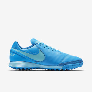 NIKE TIEMPOX GENIO II LEATHER TF BLUE GLOW NIKE