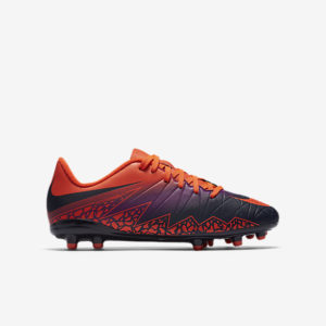 KID'S NIKE JR HYPERVENOM PHELON II FG TOTAL CRIMSO NIKE