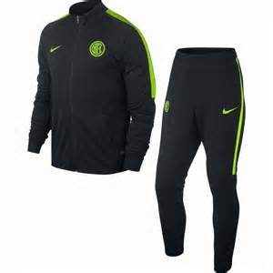 KID'S INTER MILAN TRACK SUIT BLACK GREEN NIKE
