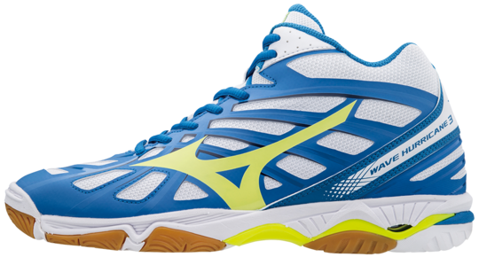 WAVE HURRICANE MID 3 WHITE SAFETY YELLOW MIZUNO