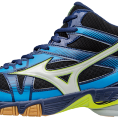 WAVE BOLT MID 6 BLACK WHITE BLUE MIZUNO
