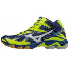 Mizuno WAVE BOLT MID 5 Scarpe da Pallavolo BLUE-YELLOW