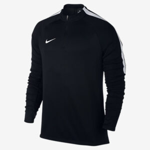 MEN'S NIKE SQUAD FOOTBALL DRILL TOP BLACK WHITE NIKE