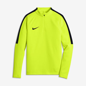 KID'S NIKE SQUAD FOOTBALL DRILL TOP VOLT BLACK NIKE
