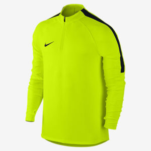 MEN'S NIKE SQUAD FOOTBALL DRILL TOP VOLT BLACK NIKE