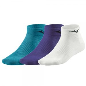 RUN SOCK TRIPLE PACK WHITE IRIS BLUE MIZUNO