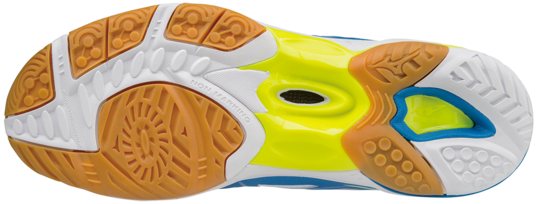 Mizuno WAVE HURRICANE MID 3 Scarpe da Pallavolo WHITE-SAFETY-YELLOW