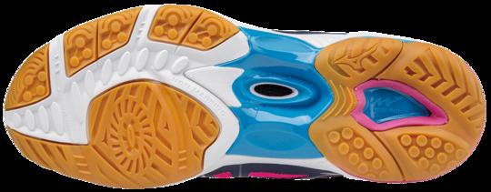 Mizuno WAVE HURRICANE MID WOS 3 Scarpe da Pallavolo PEACOAT-WHITE-BLUE