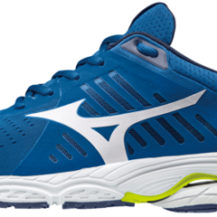 SHOE WAVE STREAM CLASSIC BLUE WHITE  SAFETY YELLOW MIZUNO