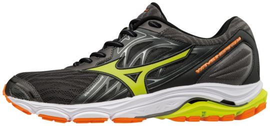 SHOE WAVE INSPIRE MAGNET LIME PUNCH ORANGE MIZUNO