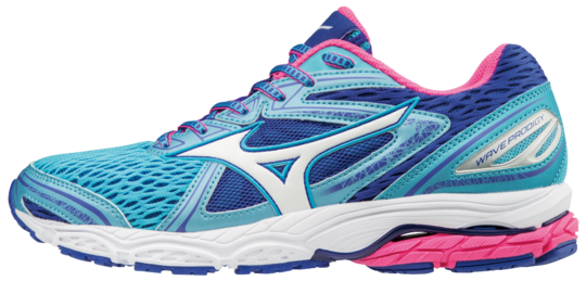 SHOE WAVE PRODIGY WOS AQUARIUS WHITE PINK MIZUNO