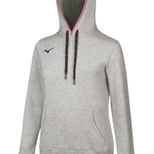 TEAM SWEAT HOODIE WOS HEATHER GREY NAVY MIZUNO