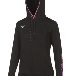 TEAM SWEAT HOODIE WOS BLACK WHITE MIZUNO