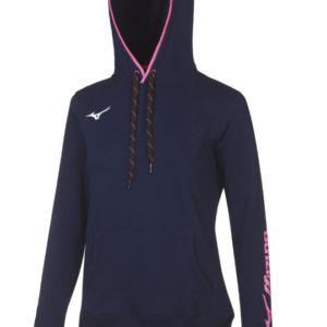 TEAM SWEAT HOODIE  WOS NAVY WHITE MIZUNO