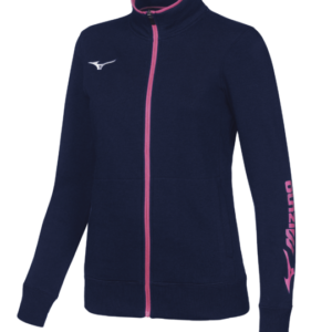 TEAM SWEAT FZ JACKET WOS NAVY WHITE MIZUNO