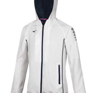 TEAM MICRO JACKET WOS WHITE NAVY MIZUNO
