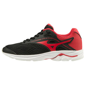 WAVE RIDER JNR BLACK CHINESE RED MIZUNO