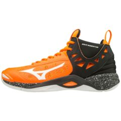 WAVE MOMENTUM MID ORANGE CLOWN FISCH WHITE BLACK MIZUNO