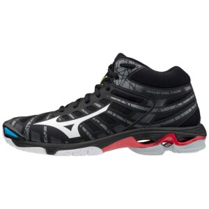 SHOE WAVE VOLTAGE MID BLACK/WHITE/199C MIZUNO scarpe da pallavolo