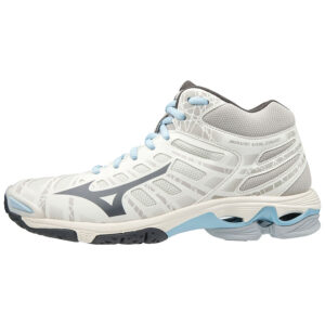 SHOE WAVE VOLTAGE MID WOS SNOW/DARKSHADOW/MOO MIZUNO scarpe da pallavolo