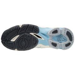 SHOE WAVE VOLTAGE MID WOS SNOW/DARKSHADOW/MOO MIZUNO scarpe da pallavolo