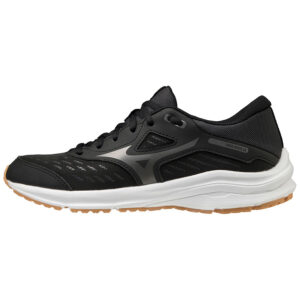 SHOE WAVE RIDER JNR BLACK/METSHADOW/BISCUIT MIZUNO